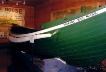 MHS Surfboat Nantasket on exhibit at the Hull Lifesaving Museum