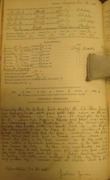 Log entry for November 6, 1891