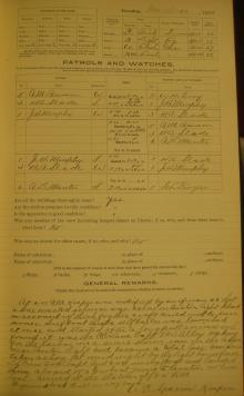 Log entry for March 20, 1906