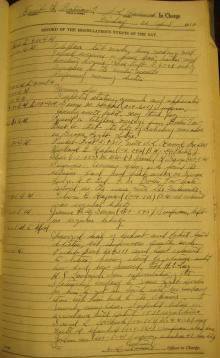 Log entry for April 22, 1938
