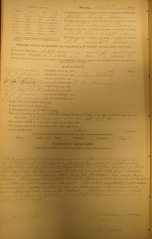 Log entry for October 7, 1901