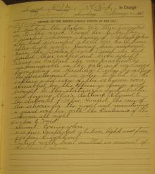Log Entry for February 20, 1927, Page 2